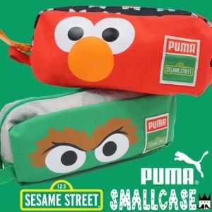 プーマ PUMA メンズ レディース キッズ ジュニア ポーチ 074442 セサミストリート スモールケース ペンケース 小物入れ 雑化 エルモ オスカー|smw