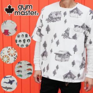 gymmaster ジムマスター ハッピーペイントジャガードビックTEE メンズ レディース G233633 Tシャツ 半袖シャツ ルアー Smile 海 イルカ サメ チェア ログハウス smw