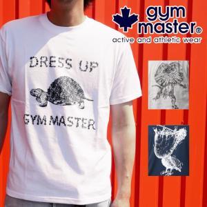 gymmaster ジムマスター プリントTシャッツ メンズ レディース G299605 G299606 G299607 亀 エリマキトカゲ ペリカン 半袖シャツ MADE IN JAPAN smw