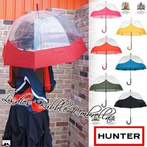 ハンター HUNTER長傘 かさ カサ レディース WAU 2004UPM スケルトンバブル傘 バブル アンブレラ RAIN 雨 梅雨 レイン|smw