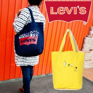LEVI'S リーバイス バットウィングトートバッグ フロントポケットトート メンズ レディース 380040175 380040177 スヌーピー チャーリー・ブラウン ルーシー|smw