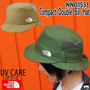 ザ・ノースフェイス THE NORTH FACE レディース 帽子 NN01531 コンパクトダブルビルハット UVケア 撥水 キャンプ フェス|smw