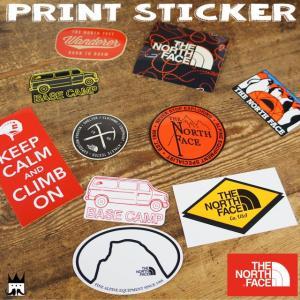 ザ・ノースフェイス ノースフェイス THE NORTH FACE メンズ レディース ステッカー NN31710 プリントステッカー シール キャンプ 雑貨 ペンギン アメ車 ロゴ