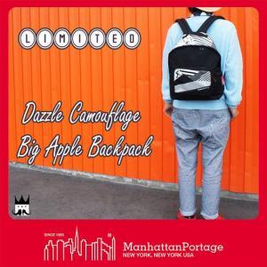 マンハッタンポーテージ Manhattan Portage メンズ レディース バッグ MP1209DZ ダズルカモ ビッグアップル バックパック リミテッド リュック ダズル迷彩 黒 smw
