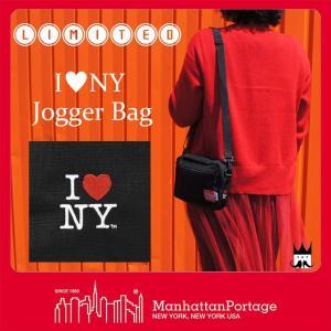 マンハッタンポーテージ Manhattan Portage メンズ レディース バッグ MP1404L-INY-35TH アイラブニューヨーク ジョガーバッグ ショルダーバッグ ポーチ 2WAY|smw