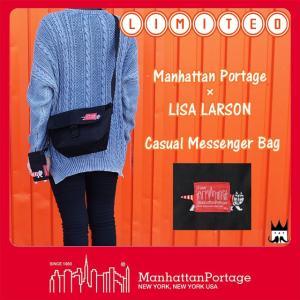 マンハッタンポーテージ Manhattan Portage メンズ レディース バッグ MP1603-LARSON リサ・ラーソン メッセンジャーバッグ ショルダーバッグ リミテッド 猫 CAT|smw