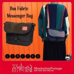 マンハッタンポーテージ Manhattan Portage メンズ レディース バッグ MP1605-JR-S-BOA-17 ボアファブリック メッセンジャーバッグ ショルダーバッグ 黒 smw