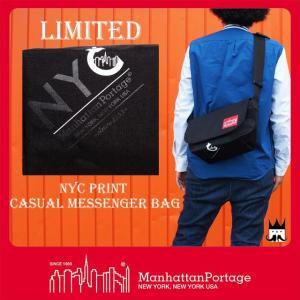 マンハッタンポーテージ Manhattan Portage 靴 メンズ レディース バッグ MP1605-JR-FVL-NYC-17AW NYCプリント メッセンジャーバッグ リミテッド ショルダー 黒|smw