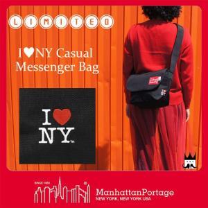 マンハッタンポーテージ Manhattan Portage メンズ レディース バッグ MP1605-JR-INY-35TH アイラブニューヨーク メッセンジャーバッグ ショルダーバッグ|smw