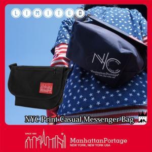 マンハッタンポーテージ Manhattan Portage メンズ レディース バッグ MP1605-JR-NYC-18SS NYCプリント メッセンジャーバッグ ショルダーバッグ 黒 ブラック|smw