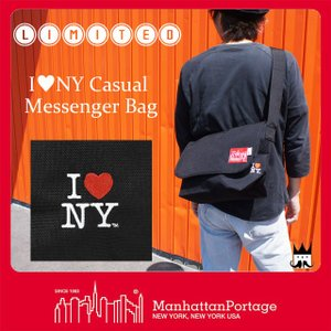 マンハッタンポーテージ Manhattan Portage メンズ レディース バッグ MP1606-JR-INY-35TH アイラブニューヨーク メッセンジャーバッグ ショルダーバッグ|smw
