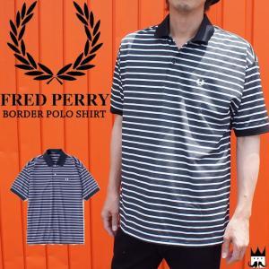 フレッドペリー FRED PERRY ボーダーポロシャツ メンズ アパレル シャツ 半袖 トップス 縞 チャコール ネイビー月桂樹 F1714 smw