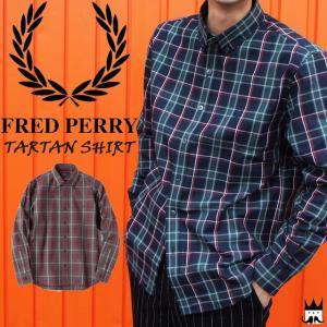 フレッドペリー FRED PERRYメンズ アパレル F4450 タータンシャツ ボタンダウン 長袖シャツ ハウスタータンチェック コットン100% 月桂樹 ローレル|smw