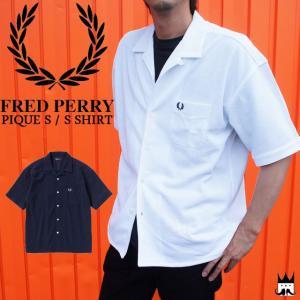 フレッドペリー FRED PERRY メンズ シャツ F4476 ピケシャツ 開襟シャツ 半袖 smw