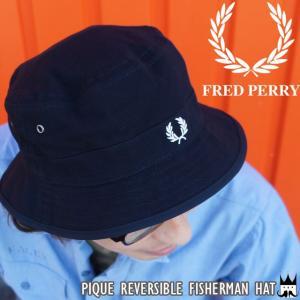 フレッドペリー FRED PERRY メンズ レディース 帽子 HW3640 リバーシブル フィッシャーマンズハット コットン 鹿の子月桂樹|smw