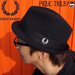 フレッドペリー FRED PERRY メンズ 帽子 HW3641 ピケ トリルビー ハット コットン 綿100% トラディショナル ローレル 月桂樹|smw