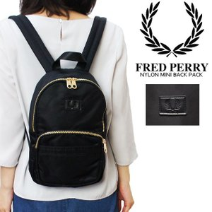 フレッドペリー FRED PERRY バッグ レディース L4220 ナイロン ミニバックパック リュック 黒 ブラック|smw