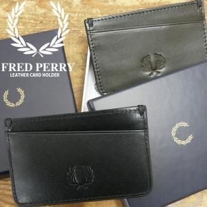フレッドペリー FRED PERRY カードケース レザーカードホルダー メンズ レディース L72...