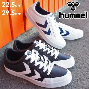 ヒュンメル hummel トップスピンスポーツ ローカットスニーカー メンズ レディース 202663 レースアップ スポーツ 運動靴 黒 ブラック 白 ホワイト ネイビー smw