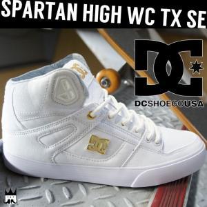 ディーシーシューズ DC SHOES メンズ レディース ハイカットスニーカー DM176012 SPARTAN HIGH WC TX SE 白 ホワイト smw