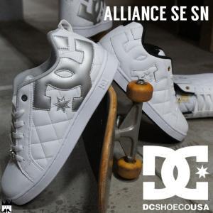 ディーシーシューズ DC SHOES アライアンス SE SN メンズ スニーカー DM181022 スケートシューズ 白 ホワイト シルバー smw