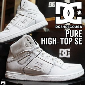 ディーシーシューズ DC SHOES ピュア HIGH-TOP SE メンズ スニーカー ハイカット DM181023 スケーター 白 ホワイト|smw