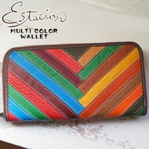 エスタシオン Estacion 長財布 本革 レザー レディース 1035 ラウンドファスナー 財布 ウォレット サイフ マルチ|smw