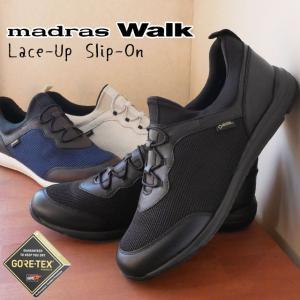 マドラスウォーク madras Walk スリッポン 防水 ゴアテックス レディース MWL1004 レースアップ レインシューズ スノーシューズ 黒 ブラック 白 ホワイト|smw
