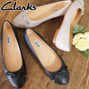 クラークス Clarks フラットシューズ リボン 本革 レザー レディース 102G ローヒールパンプス カッターシューズ 黒 ブラック ブラウン|smw