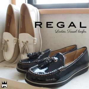 リーガル REGAL レディース タッセルローファー 革靴 レザー F01H ドライビングシューズ ...