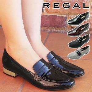 リーガル REGAL ローヒール パンプス 革靴 レザー レディース F66L 太ヒール チャンキー...