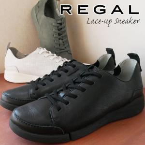 リーガル REGAL ローカットスニーカー 本革 レザー レディース F70L 痛くない 歩きやすい レースアップシューズ ぺたんこ靴 黒 ブラック 白 ホワイト グレー|smw