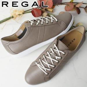 リーガル REGAL ローカットスニーカー 本革 レザー レディース BE63 レースアップシューズ レディーススニーカー 紐靴 グレー|smw