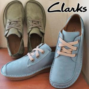 クラークス Clarks レースアップシューズ 本革 レザー レディース 014D オブリークトゥ カーキ ブルー 大きいサイズ ビッグサイズ smw