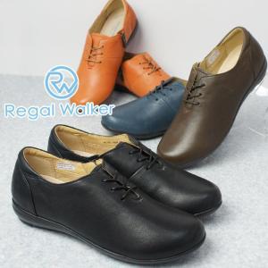 リーガルウォーカー REGAL WALKER コンフォートシューズ 革靴 レザー レディース HB58 レースアップシューズ ウォーキング 黒 ブラック ダークブラウン オレンジ|smw