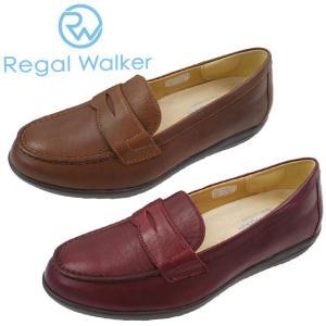 リーガルウォーカー REGAL WALKER ローファー レディース HB36 ワイズ3E 4E 調節可能 革靴 レザー コンフォートシューズ ウォーキング スリッポン ミセス BR WI|smw