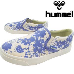 ヒュンメル hummel スリッポン 女の子 子供靴 キッズ ジュニア 64-550 スリップ-オン チェリーブロッサム JR ローカット カジュアルシューズ 花柄 靴|smw