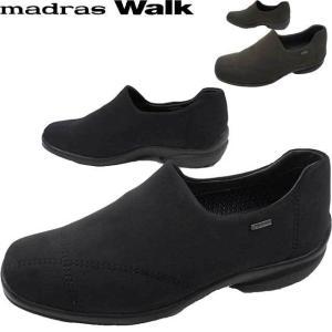 マドラスウォーク madras Walk レディース スリッポン 防水 ゴアテックス MWL2071 スノーシューズ 防滑 黒 ダークブラウン 幅広 3E|smw