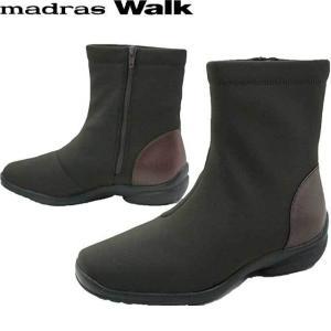 マドラスウォーク madras Walk レディース ブーツ スノーブーツ レインブーツ MWL2072 ショートブーツ GORE-TEX ゴアテックス 防水 ブラウン|smw