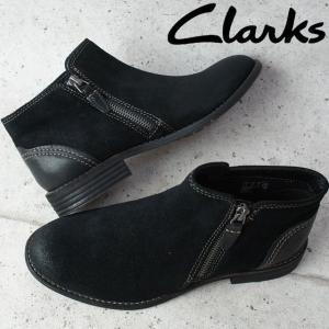 クラークス Clarks ショートブーツ 本革 レザー レディース 124G チャンキーヒール 太ヒール ローヒール|smw
