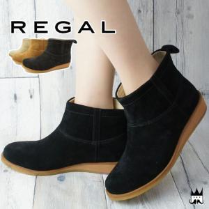 リーガル REGAL レディース ブーツ F59H ショートブーツ 本革 レザー 本革ブーツ 牛革 スエード クレープソール ローヒール ヒール約3cm|smw