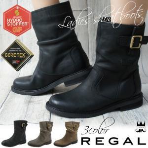 リーガル REGAL レディース ショートブーツ 本革 レザー F61H 黒 ブラック ベージュ グレー|smw