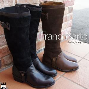 フランコサルト FRANCO SARTOレディース ロングブーツ 本革 D21B ブラック ダークブラウン|smw