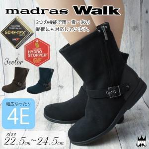 マドラスウォーク madras Walk レディース ショートブーツ レインブーツ 防水 MWL2052A ゴアテックス 防滑 黒 ブラック ブラウン|smw