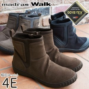 マドラスウォーク madras Walk スノーブーツ ショートブーツ 大雪 レディース MWL2094 ゴアテックス 防水 黒 ブラック ブラウン オーク|smw