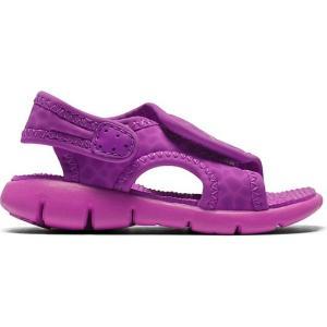 ナイキ NIKE SUNRAY ADJUST4 GS PS 女の子 子供靴 サンダル 386520 スポーツサンダル ベルクロ 506 ピンク smw