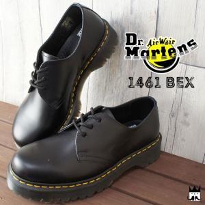 ドクターマーチン Dr.Martensメンズ レディース 21084001 CORE 1461 BEX 3 EYELET SHOE オックスフォード マニッシュシューズ レースアップ おじ靴|smw