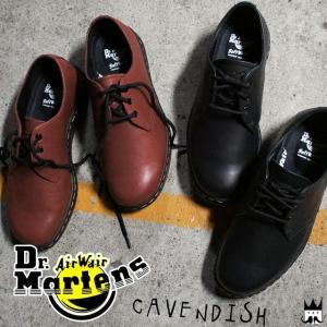 ドクターマーチン Dr.Martensキャベンディッシュ メンズ レディース 3ホールシューズ 21859600 21859001 ブラック チェリーレッド|smw