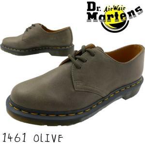 ドクターマーチン Dr.Martens 1461 3ホールシューズ DUSKY メンズ  24543305 オックスフォードシューズ 3アイレット 3eye オリーブ カーキ|smw