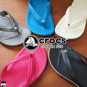 クロックス crocs メンズ レディース ビーチサンダル 11033 クロックバンド フリップ ビーサン トング トングサンダル ローヒール ぺたんこ 軽量 ビーチ 海 川|smw